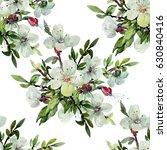 seamless watercolor... | Shutterstock . vector #630840416