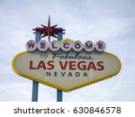 famous las vegas sign on bright ... | Shutterstock . vector #630846578