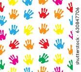 children's hands  hand prints...   Shutterstock .eps vector #630847706