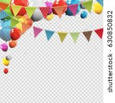 group of colour glossy helium... | Shutterstock .eps vector #630850832