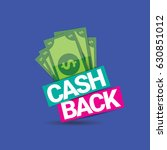 vector cash back icon isolated... | Shutterstock .eps vector #630851012