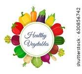 set of healthy vegetables  farm ... | Shutterstock .eps vector #630856742