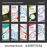 collection of colorful roll up... | Shutterstock .eps vector #630857036