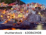 manarola. village on the rock. | Shutterstock . vector #630863408