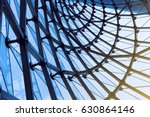 structural glass facade curving ... | Shutterstock . vector #630864146