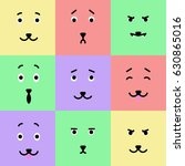 a vector set of colorful... | Shutterstock .eps vector #630865016