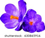 abstract polygonal flowers.... | Shutterstock .eps vector #630865916