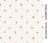 small flowers seamless pattern... | Shutterstock .eps vector #630867866