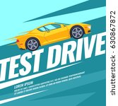 modern poster test drive with... | Shutterstock .eps vector #630867872