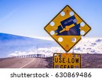 sign on mauna kea  big island... | Shutterstock . vector #630869486