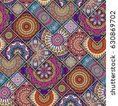 seamless pattern tile with...   Shutterstock .eps vector #630869702