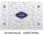 vector swirls and flourish... | Shutterstock .eps vector #630874046