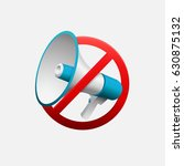 making noise is forbidden icon...   Shutterstock .eps vector #630875132