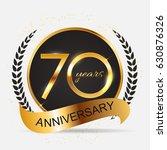 template logo 70 years... | Shutterstock .eps vector #630876326