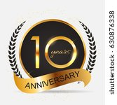 template 10 years anniversary... | Shutterstock .eps vector #630876338