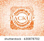 backup abstract orange mosaic... | Shutterstock .eps vector #630878702