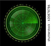 digital green radar screen on... | Shutterstock .eps vector #630878786