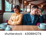 couple in a bad mood sitting in ... | Shutterstock . vector #630884276