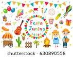 festa junina set  icons  flat...   Shutterstock .eps vector #630890558