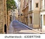 beautiful quaint street in the...   Shutterstock . vector #630897548