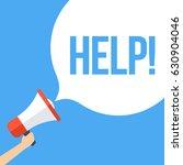 help  megaphone banner | Shutterstock .eps vector #630904046