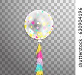white 3d transparent balloon...   Shutterstock .eps vector #630904196