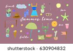 vector drawn set of hand drawn... | Shutterstock .eps vector #630904832