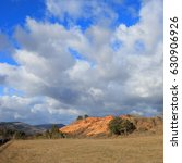 Small photo of Red ochre lands or ocher lands in Corbières, Aude, Occitanie in south of France