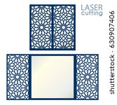 laser cut islamic pattern card... | Shutterstock .eps vector #630907406