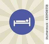 bed icon. sign design....