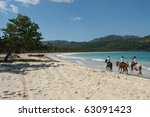 Horse Ride On The Beach Of...