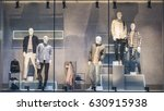 men clothing in a showcase in... | Shutterstock . vector #630915938