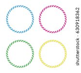 Four Striped Gymnastic Hoops....