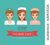 international nurse day with... | Shutterstock .eps vector #630925226