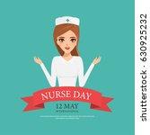 international nurse day with... | Shutterstock .eps vector #630925232