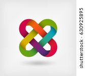 solomon knot in rainbow colors. ... | Shutterstock .eps vector #630925895