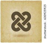 solomon knot vintage background.... | Shutterstock .eps vector #630925925