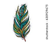 isolate feather icon vector... | Shutterstock .eps vector #630929675