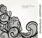 black lace vector design | Shutterstock .eps vector #63093163