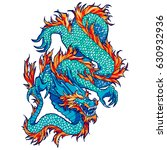 traditional asian dragon.... | Shutterstock .eps vector #630932936