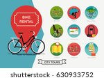 city bike hire rental tours for ... | Shutterstock .eps vector #630933752
