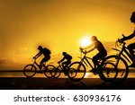 image of sporty company friends ... | Shutterstock . vector #630936176