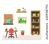 furniture icons and scene  eps... | Shutterstock .eps vector #630938792