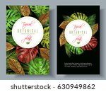 vector tropical vertical... | Shutterstock .eps vector #630949862