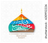 illustration of ramadan kareem... | Shutterstock .eps vector #630952226