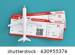 airplane and boarding passes.... | Shutterstock . vector #630955376
