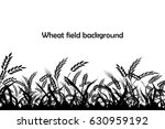 Vector Silhouette Of Wheat....