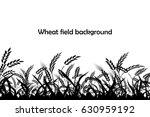 vector silhouette of wheat.... | Shutterstock .eps vector #630959192