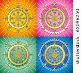 dharmacakra   dharma wheel ... | Shutterstock .eps vector #63096250