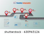 design template  road map... | Shutterstock .eps vector #630965126